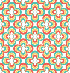 Vintage 80s abstract seamless pattern vector image