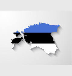 Estonia map with shadow effect vector