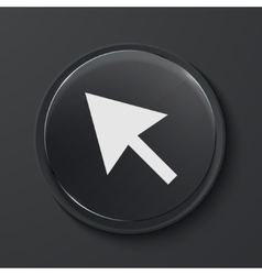 Modern black glass circle icon vector