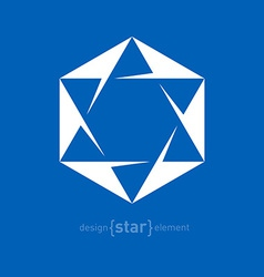 Star of david jewish abstract design element vector
