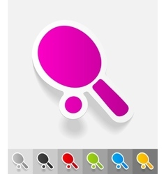 Realistic design element ping-pong vector