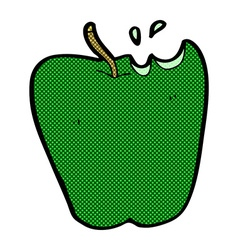 Comic cartoon apple vector