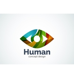 Abstract business company human eye logo template vector
