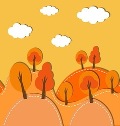 Autumn forest background vector