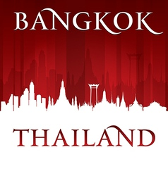 Bangkok Thailand city skyline silhouette vector image vector image