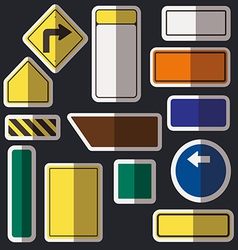 Blank road signs vector image vector image