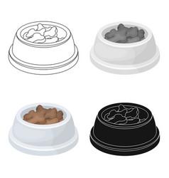Bowl with foodpet shop single icon in cartoon vector