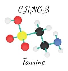 C2H7NO3S Taurine molecule vector image