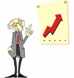 cartoon businessmen vector image vector image