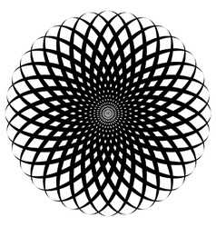 Circular spiral flower vector image vector image