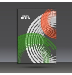 Color line twirl design cover template vector