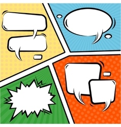 Comics Speech Bubbles Set vector image