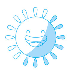 Cute sun cartoon vector