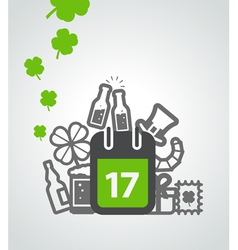 Different St Patricks Day symbols Greeting card vector image vector image