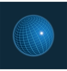 Earth icon on dark background vector image