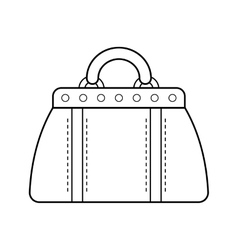 Hand bag isolated Linear flat icon object vector image vector image