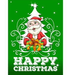 Happy Christmas card with santa vector image