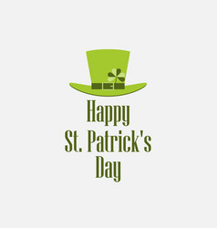 Happy st patricks day leprechaun hat vector