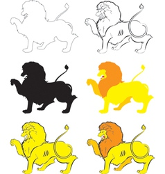 Heraldic lion passant vector