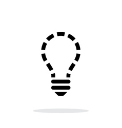 No light icon on white background vector image vector image