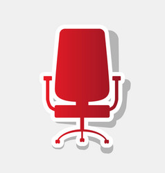 Office chair sign new year reddish icon vector