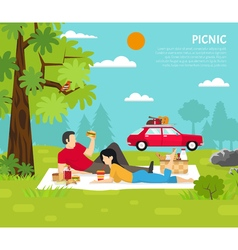 Outdoor Picnic vector image vector image