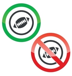 Rugby permission signs vector