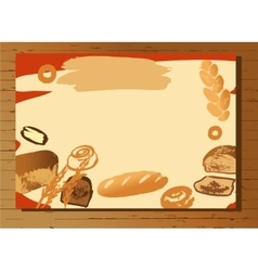 Set of of hand drawn bread for menu vector image vector image