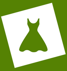 Woman dress sign white icon obtained as a vector