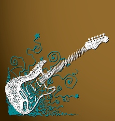 Creative scribble guitar background vector