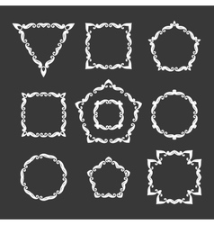 set of ten different retro floral frame vector image