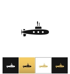 Deep water submarine icon vector