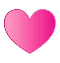 Pink heart on white background vector