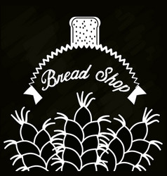 Bread shop wheat product poster vector