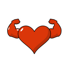 strong love athlete powerful heart of athlete big vector image