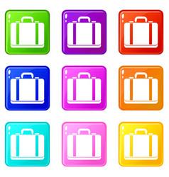 Suitcase set 9 vector
