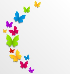 Abstract spring background with rainbow vector image