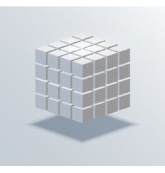Modern cube business background vector