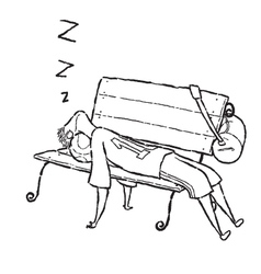 Man sleep on chair vector