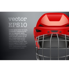 Background of classic red ice hockey goalkeeper vector