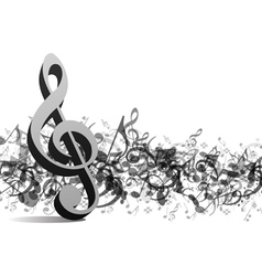 Treble notes background vector
