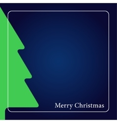 Greeting card - christmas green tree with text vector