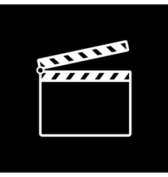 The clapper board icon clapper board symbol flat vector