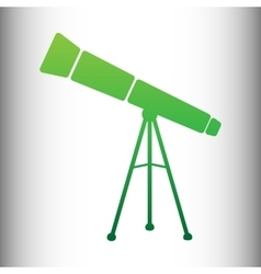 Telescope simple icon vector