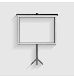 Blank projection screen black paper with shadow vector