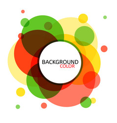 abstract circle banner for design vector image vector image