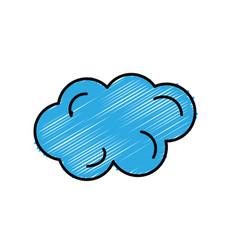 Beautiful line cartoon cloud vector