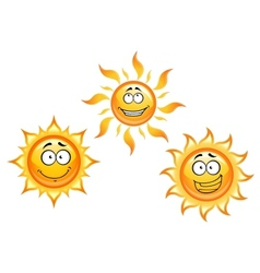 Cartoon sun characters vector image