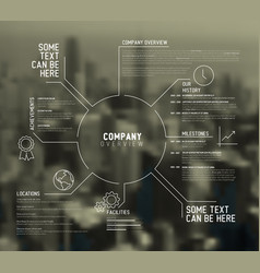 Company infographic overview design template vector