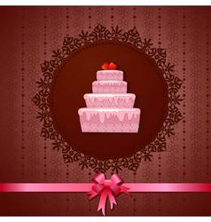 Designer frame cake vector image vector image